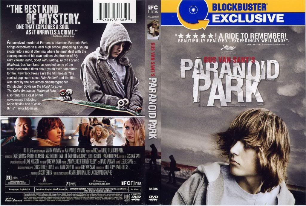 Paranoid Park (2007) Gus Van Sant ParanoidPark-DVDcover
