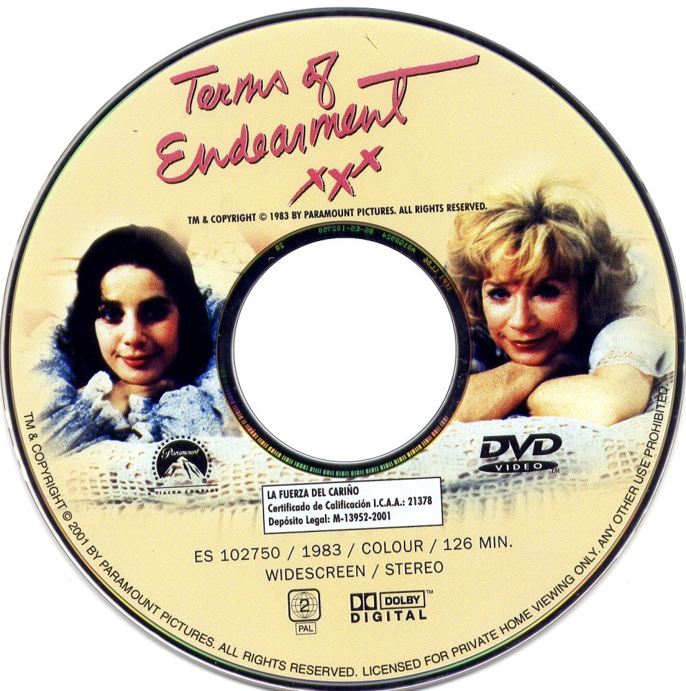 Terms Of Endearment (1983) MacLaine TermsOfEndearmentDVDsticker