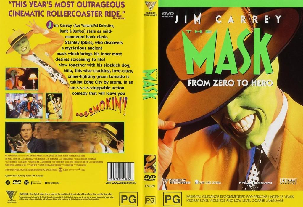 The Mask (1994) Jim Carrey TheMask-DVDcover