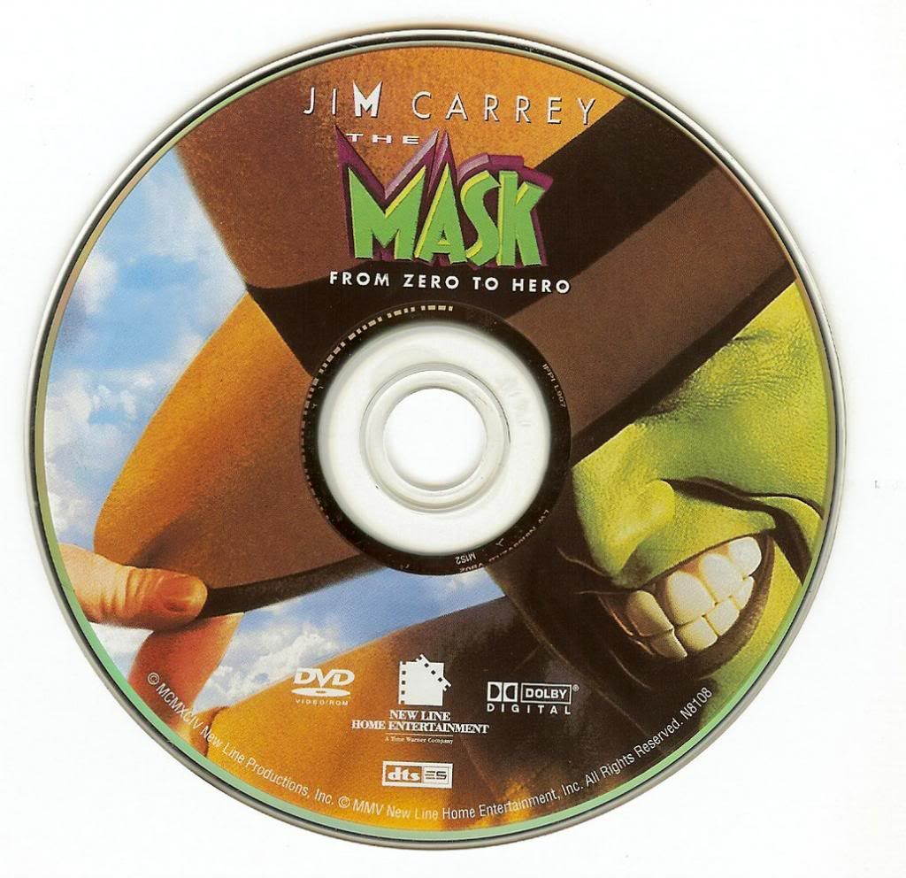 The Mask (1994) Jim Carrey TheMask-DVDsticker
