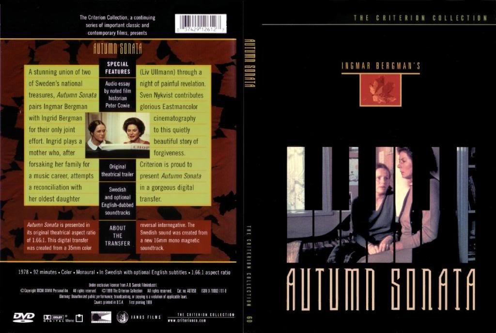 Höstsonaten (Sweden, 1978) Ingmar Bergman AutumnSonata-DVD