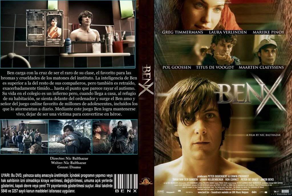 Ben X (Belgium, 2007) Nic Balthazar BenX-DVDcover
