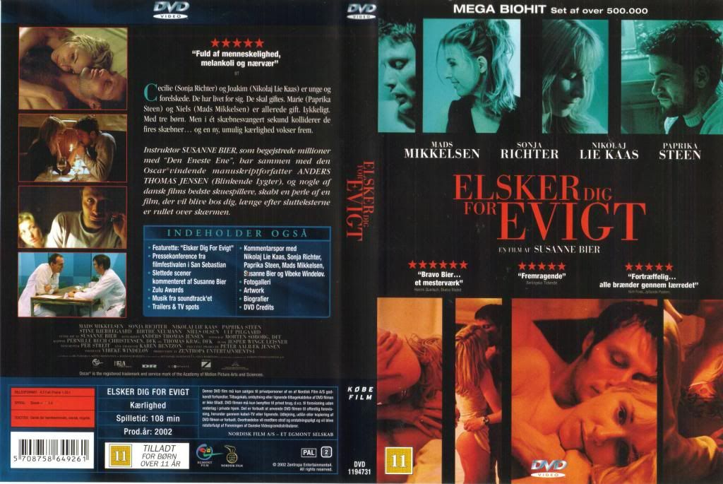 Elsker dig for evigt (2002) Susanne Bier ElskerDigForEvigt-DVDcover