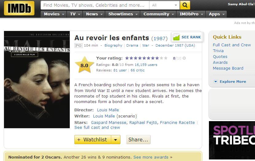 Au Revoir Les Enfants (1987) thumbz up وداعـاً يا أطـفـال GoodbyeChildern-IMDB