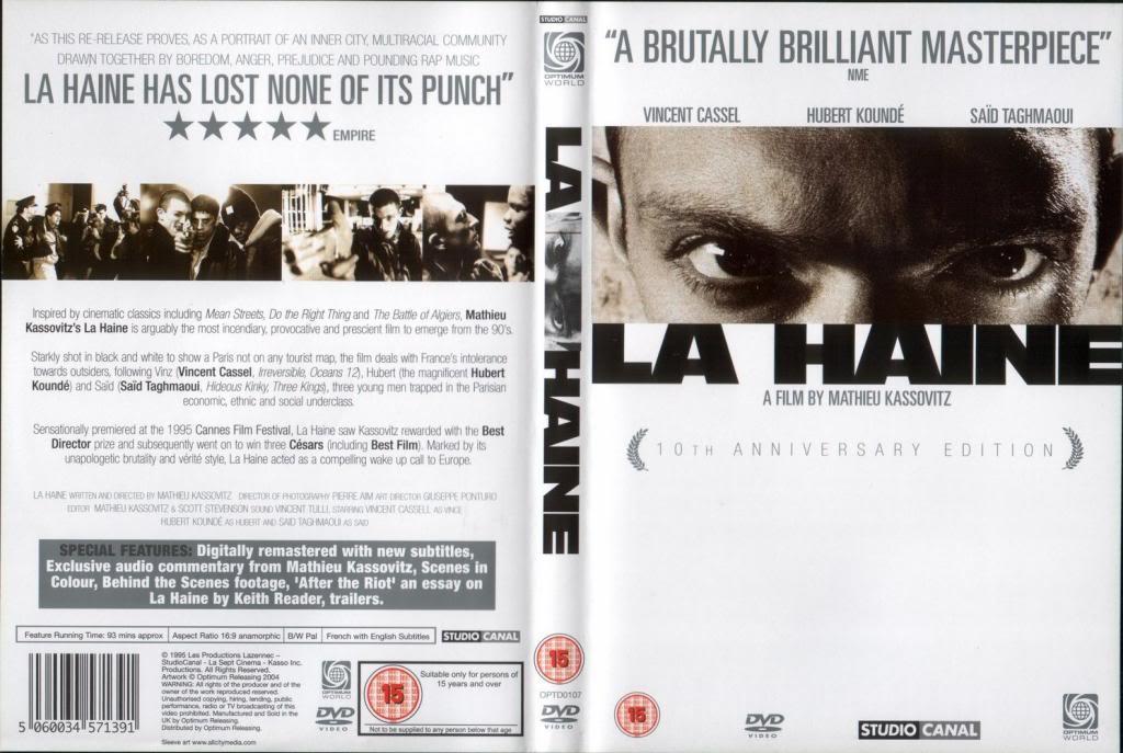 La Haine (1995) Mathieu Kassovitz LAHaine-DVDcover