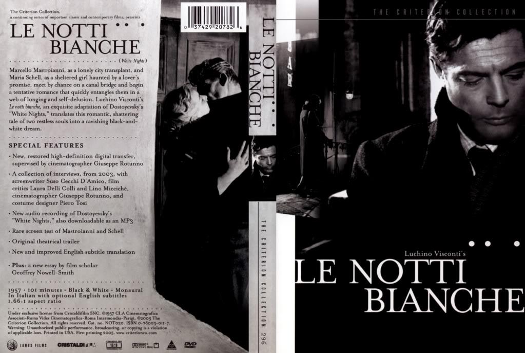 Le notti bianche (1957) Marcello Mastroianni  LeNottiBianche-CriterionDVD