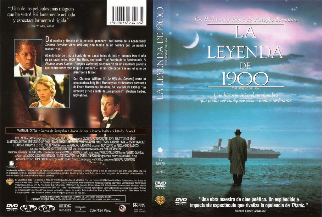 La leggenda del pianista sull'oceano (1998) Giuseppe Tornatore LegendOf1900-DVDcover
