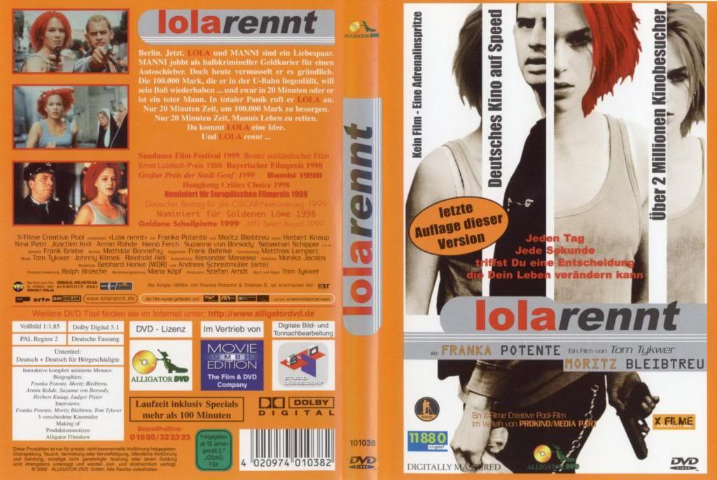 Lola Rennt (1998) a.k.a Run Lola Run LolaRennt-DVDcover