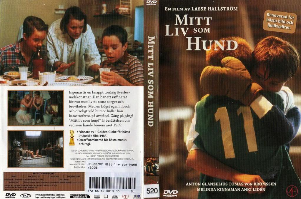 Mitt Liv Som Hund (Sweden, 1985) Lasse Hallström MyLifeAsDog_DVDcover