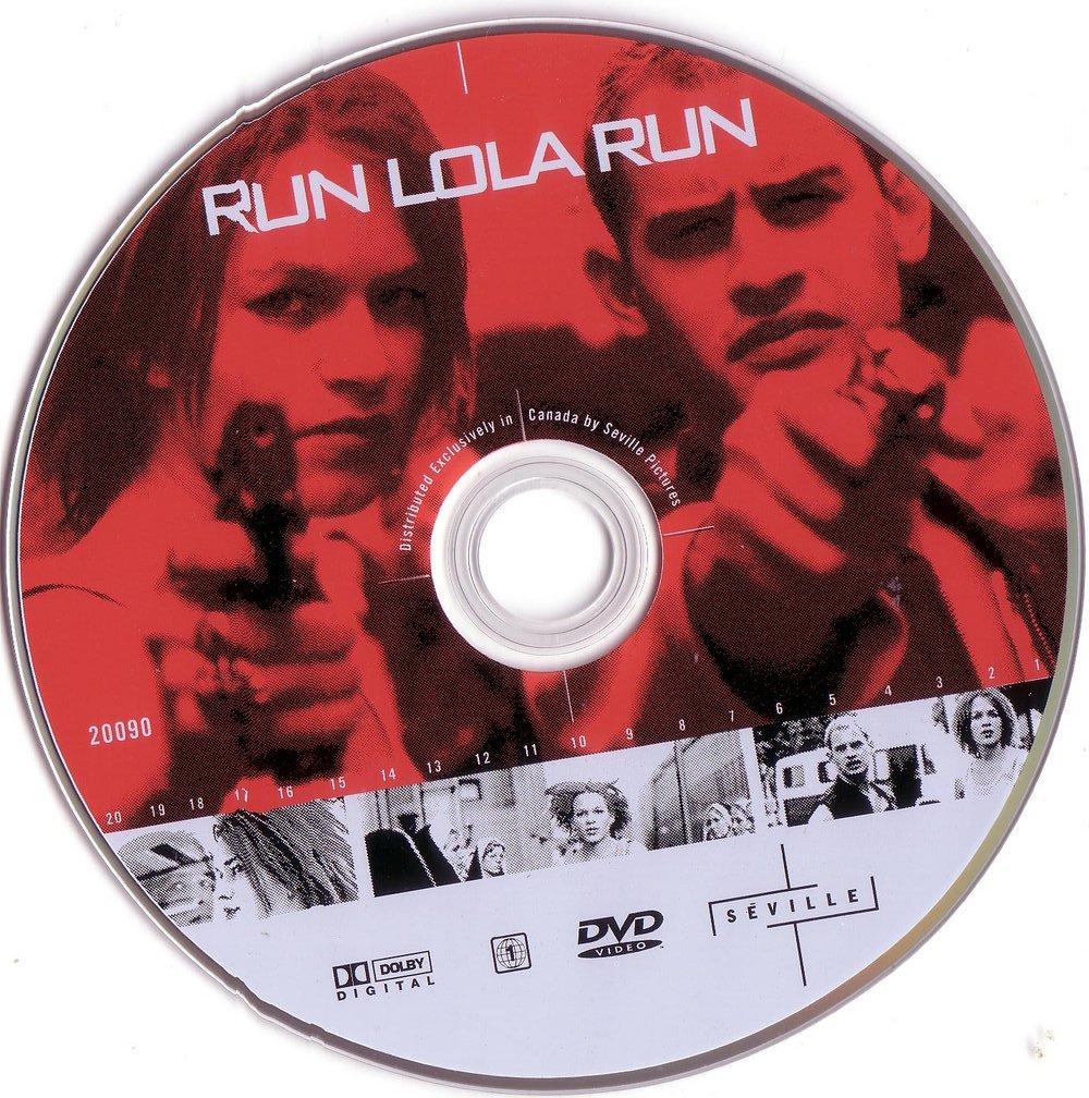 Lola Rennt (1998) a.k.a Run Lola Run RunLolaRun-DVDsticker