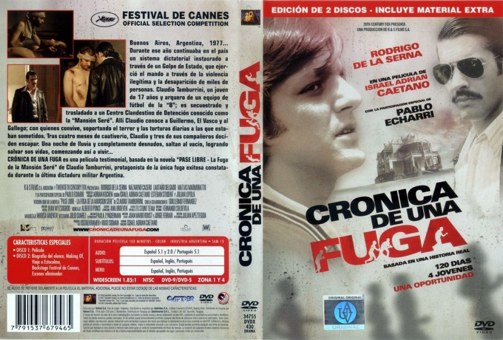 Crónica de una fuga (2006) Chronicle of an Escape CrnicaDeUnaFugaDVD