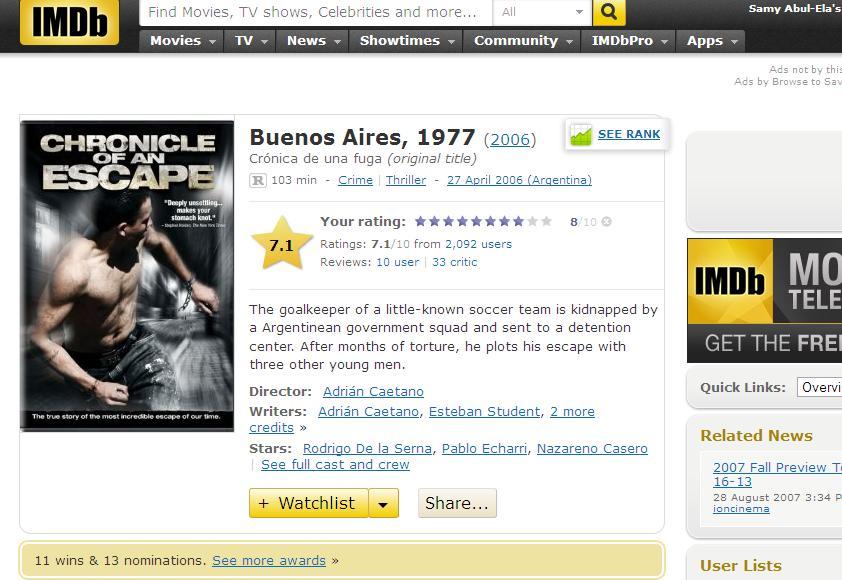 Crónica de una fuga (2006) Chronicle of an Escape CronicaFuga-IMDB