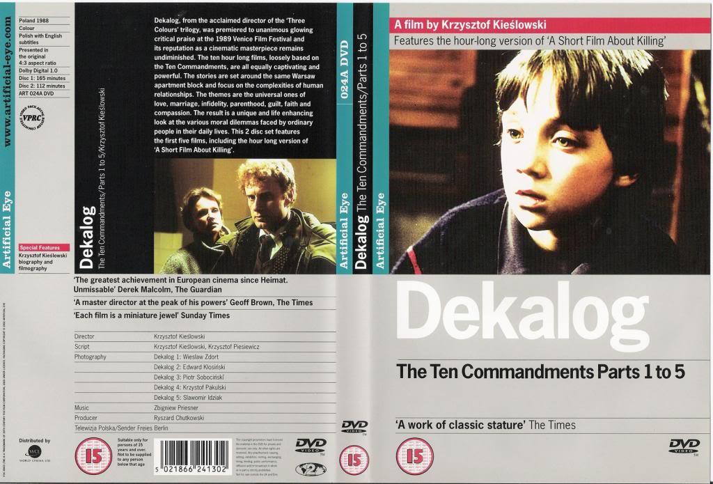 Dekalog (1988-1990) Krzysztof Kieslowski  DekalogDVD1Episodes1-5