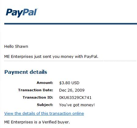 2nd payment 2ndpayout