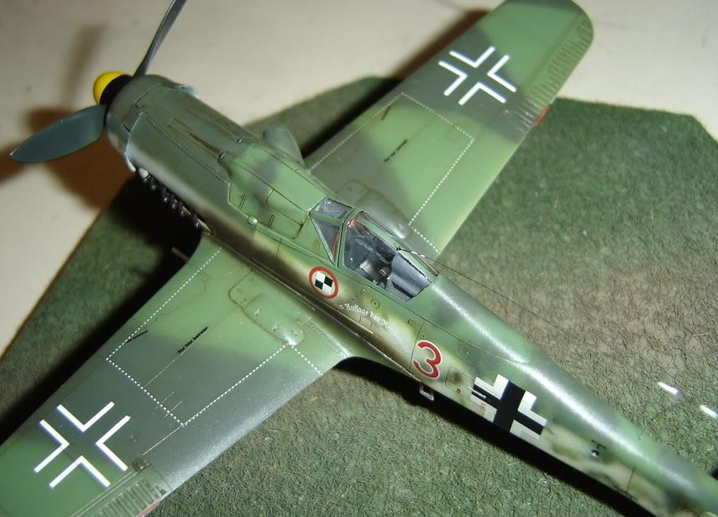 "Focke-Wulf Fw 190 D-9 ""Rot 3"" Papagei Staffel, HobbyBoss 1/72 DSC03709"