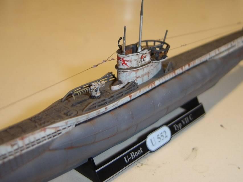 U-Boot T. VIIC U-552, Revell, 1/350 U-BootTypVIICU-552Revell1-35019