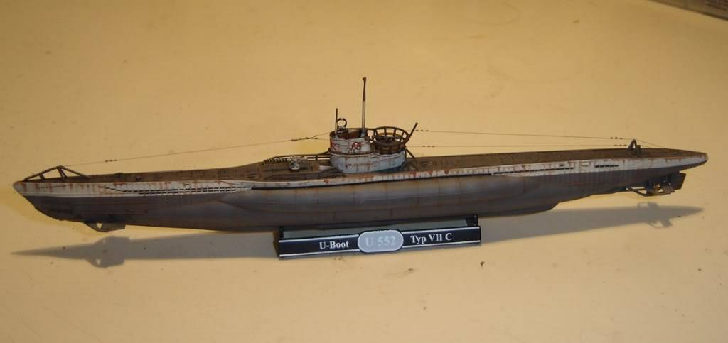 U-Boot T. VIIC U-552, Revell, 1/350 U-BootTypVIICU-552Revell1-35020
