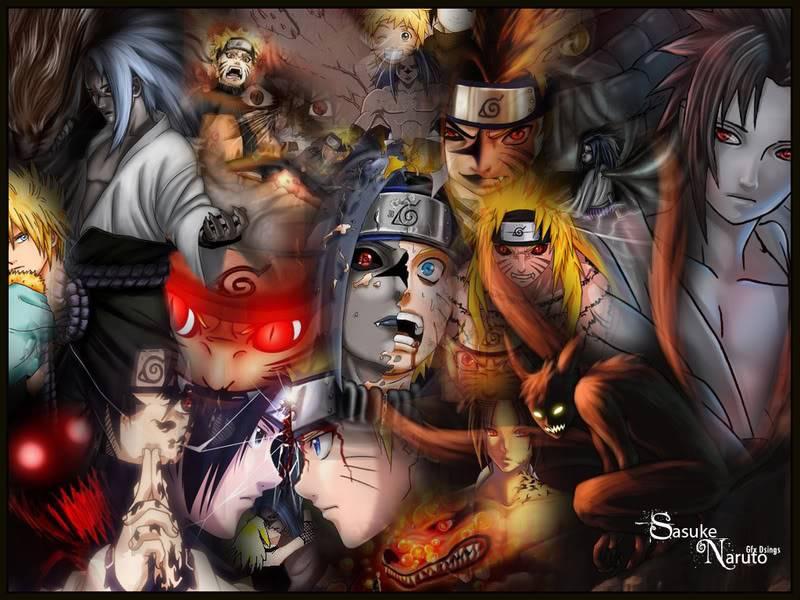 Naruto Vs sasuke Wallsaskenaru