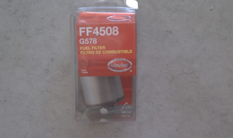 Write-Up: Fuel Filter Replacement 1