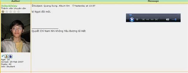 Quang Dung. Album Em Mem