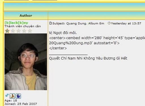 Quang Dung. Album Em Mod