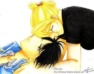 Roy et riza : fanart d'amoureux ! The_thought_of_you_gone____by_Chibi