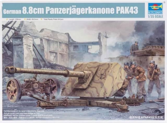 8.8cm Panzerjägerkanone Pak43 (Trumpeter 1:35) 107270-10244
