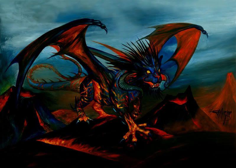 Lapse de temps agonisant Fire-dragon