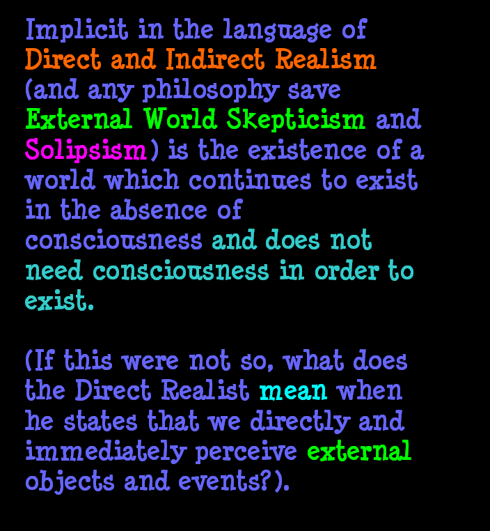 AT LAST! PROOF THAT WE DO NOT PERCEIVE THE EXTERNAL WORLD: THE END Chapter3-21