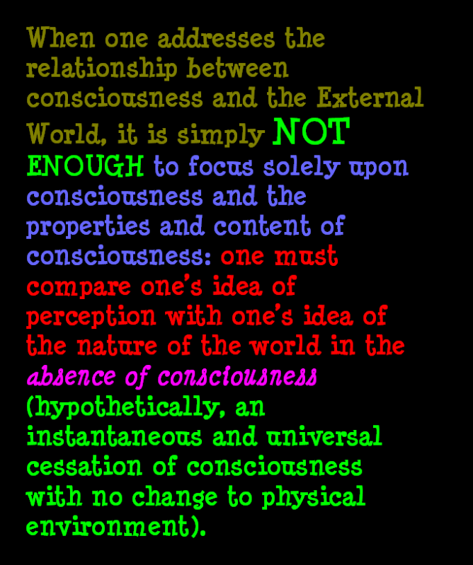 AT LAST! PROOF THAT WE DO NOT PERCEIVE THE EXTERNAL WORLD: THE END Chapter3-22
