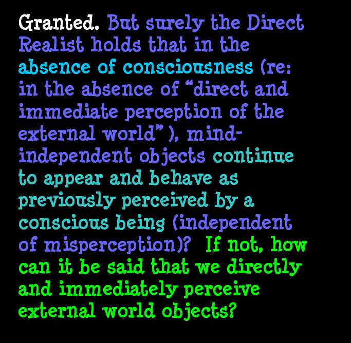 AT LAST! PROOF THAT WE DO NOT PERCEIVE THE EXTERNAL WORLD: THE END Chapter3-31