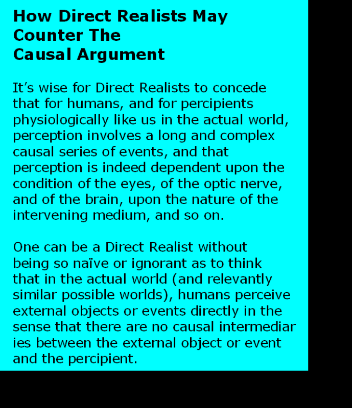 AT LAST! PROOF THAT WE DO NOT PERCEIVE THE EXTERNAL WORLD: THE END Chapter3-43