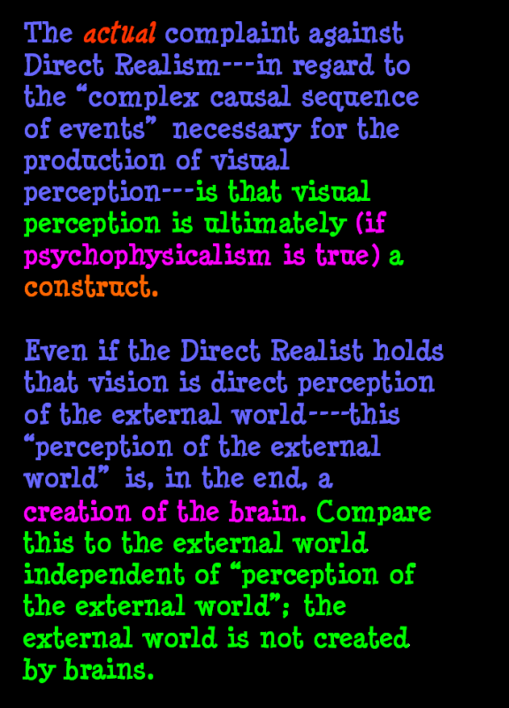 AT LAST! PROOF THAT WE DO NOT PERCEIVE THE EXTERNAL WORLD: THE END Chapter3-47
