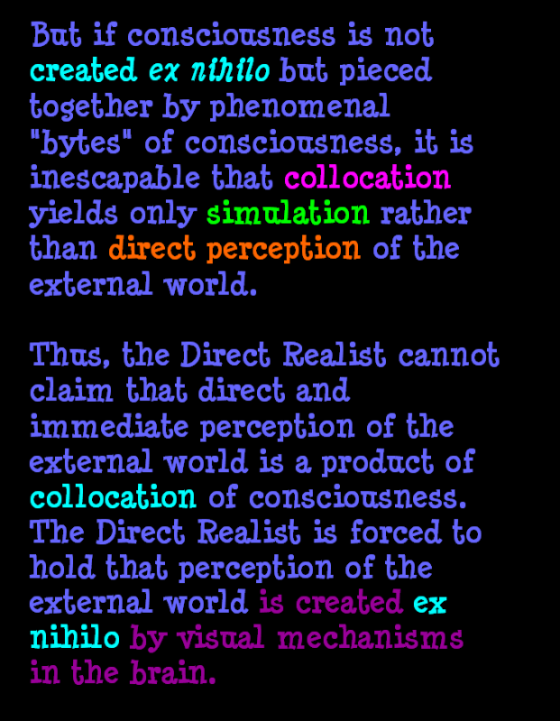 AT LAST! PROOF THAT WE DO NOT PERCEIVE THE EXTERNAL WORLD: THE END Chapter3-51