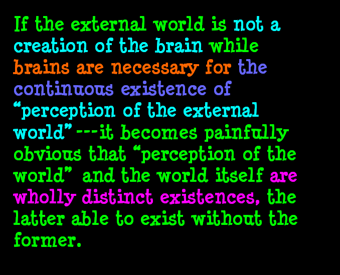 AT LAST! PROOF THAT WE DO NOT PERCEIVE THE EXTERNAL WORLD: THE END Chapter3-55