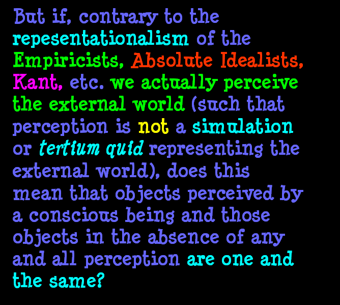 AT LAST! PROOF THAT WE DO NOT PERCEIVE THE EXTERNAL WORLD: THE END Chapter3-62