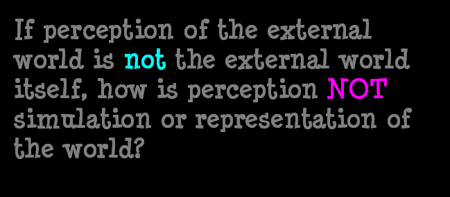 AT LAST! PROOF THAT WE DO NOT PERCEIVE THE EXTERNAL WORLD: THE END Chapter3-66