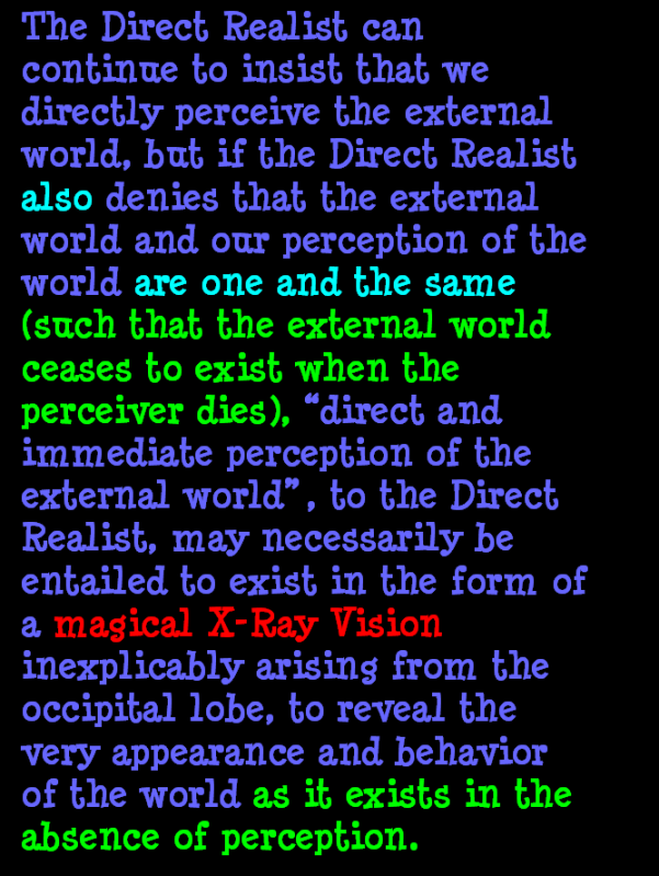 AT LAST! PROOF THAT WE DO NOT PERCEIVE THE EXTERNAL WORLD: THE END Chapter3-70