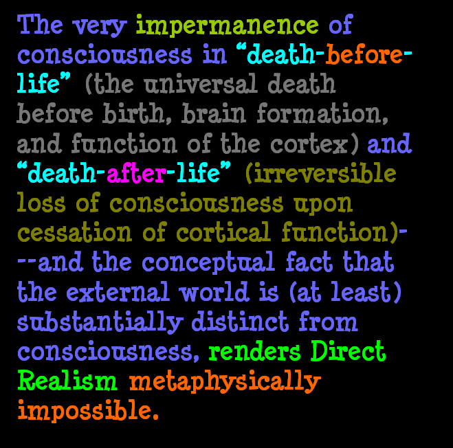 AT LAST! PROOF THAT WE DO NOT PERCEIVE THE EXTERNAL WORLD: THE END Chapter3-73