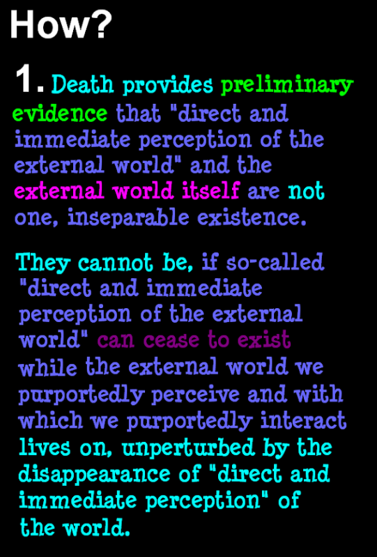 AT LAST! PROOF THAT WE DO NOT PERCEIVE THE EXTERNAL WORLD: THE END Chapter3-77