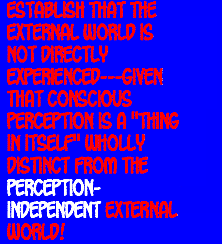 DO WE PERCEIVE THE EXTERNAL WORLD? THIS IS IT---THE FINAL TRUTH! Externalworld12-2