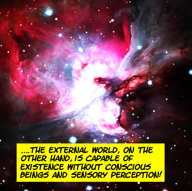 DO WE PERCEIVE THE EXTERNAL WORLD? THIS IS IT---THE FINAL TRUTH! Externalworld4-1