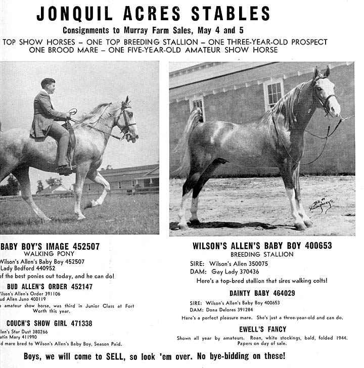 Photos & Memorabilia - Page 14 JonquilAcresStablesAd1949