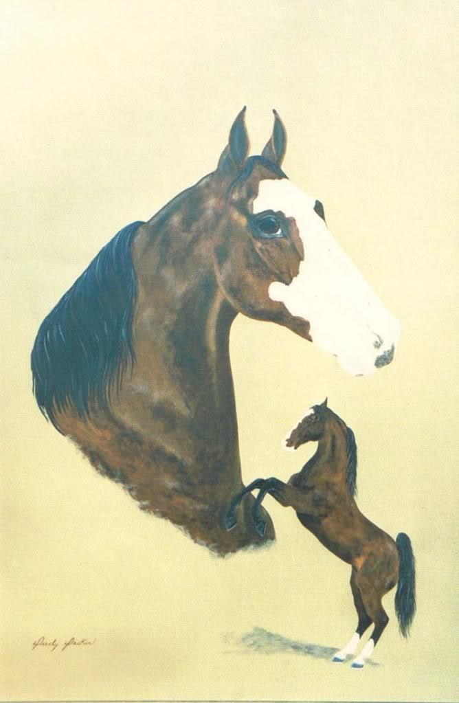 Equine Art - Page 2 EbonysMountainManPaintingbyDecker