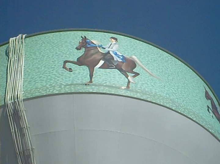 Equine Art ShelbyvilleWaterTower4