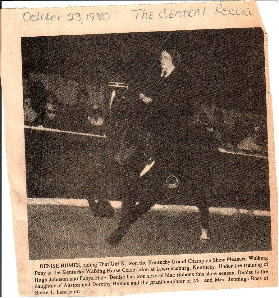 Kentucky, Ohio & Indiana Memories - Page 15 DeniseHumesPony