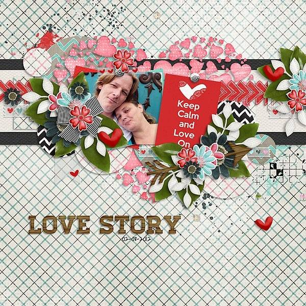 Cluster and colors: My Valentine and Day by day 5. - February 1st Lovestorycopy
