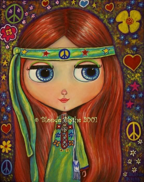 Hippies Fashion Cgreenhippieblythe