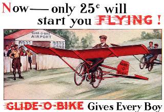Voler avec un vélo couché ? Glide-o-bike-1