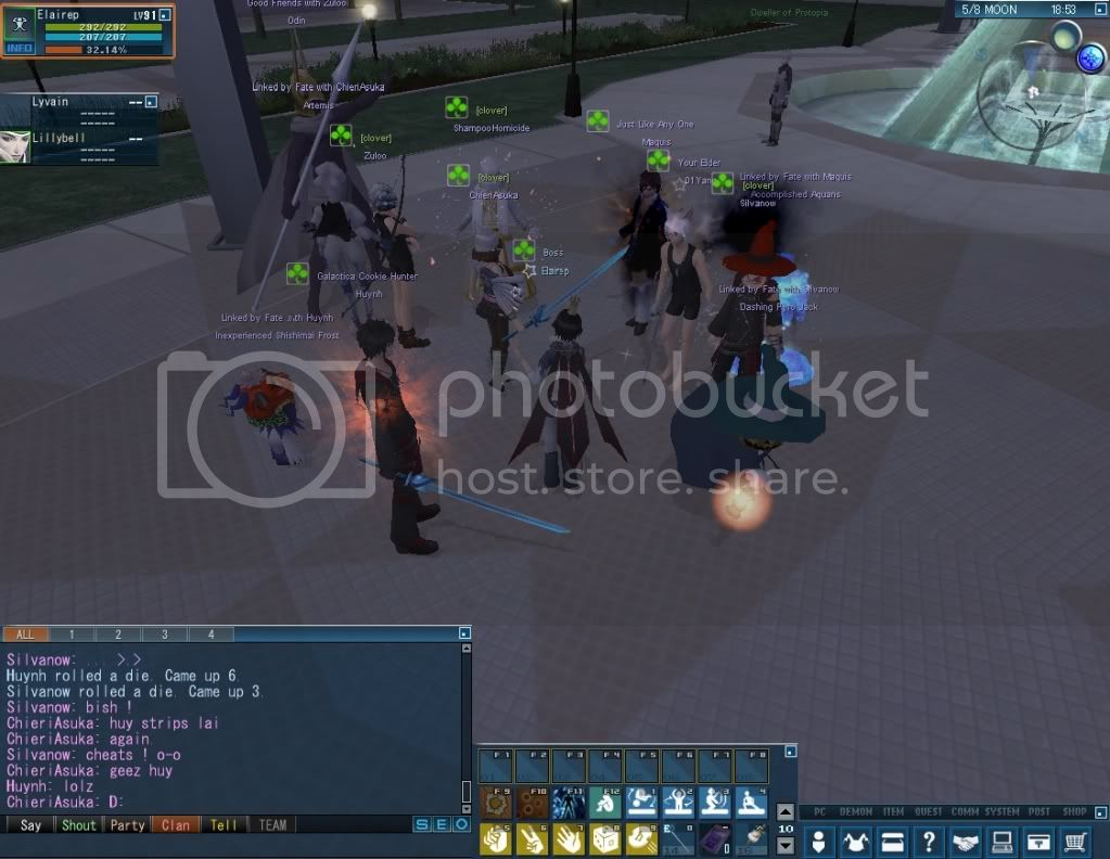 Impromptu Event: Clan Strip Dice :B 20110114_0349_41